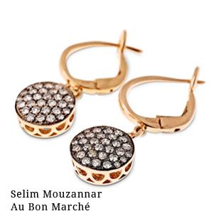 Boucles d'oreilles créateur Selim Mouzannar