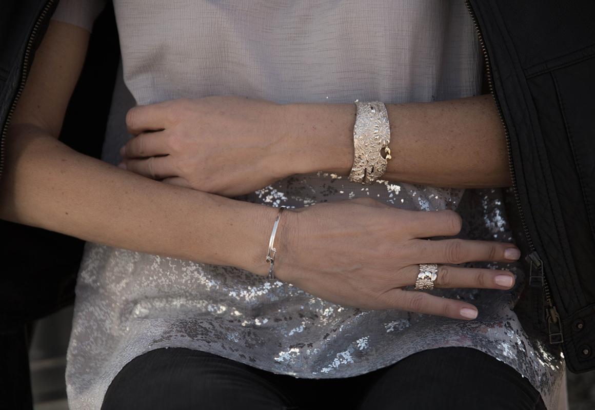 silver bras