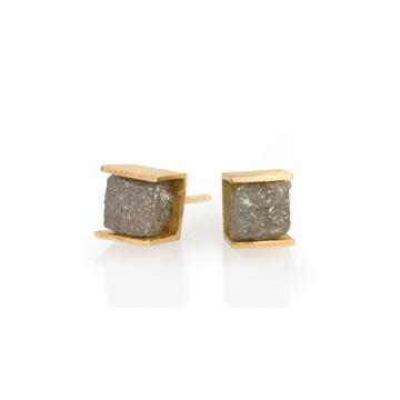 BO cube diamant brut or jaune
